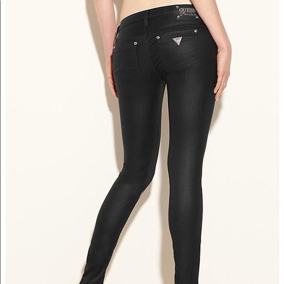 Black Guess Premium Power Skinny Jeans